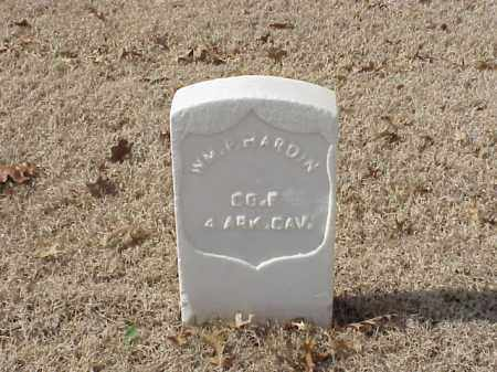 HARDIN  (VETERAN UNION), WILLIAM P - Pulaski County, Arkansas | WILLIAM P HARDIN  (VETERAN UNION) - Arkansas Gravestone Photos