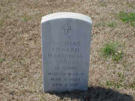 HARDIN, SR (VETERAN WWII), THOMAS EDWARD - Pulaski County, Arkansas | THOMAS EDWARD HARDIN, SR (VETERAN WWII) - Arkansas Gravestone Photos