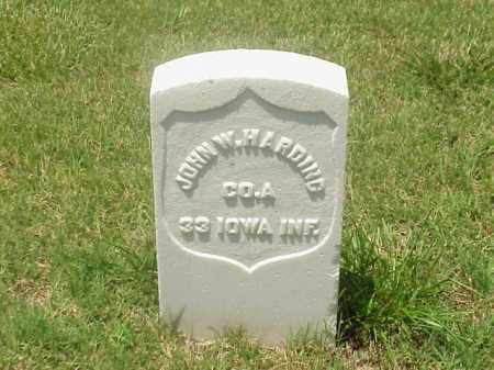 HARDING (VETERAN UNION), JOHN W - Pulaski County, Arkansas | JOHN W HARDING (VETERAN UNION) - Arkansas Gravestone Photos