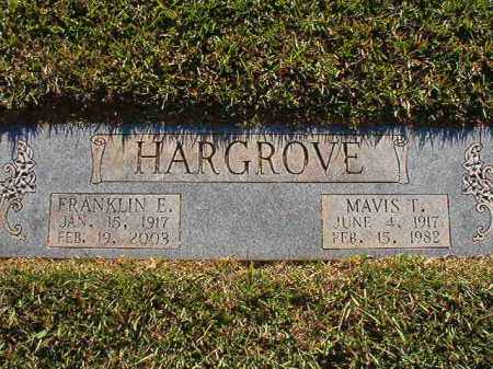 HARGROVE, FRANKLIN E - Pulaski County, Arkansas | FRANKLIN E HARGROVE - Arkansas Gravestone Photos