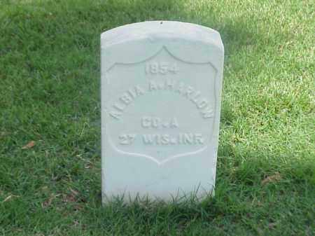 HARLOW (VETERAN UNION), ALBIA A - Pulaski County, Arkansas | ALBIA A HARLOW (VETERAN UNION) - Arkansas Gravestone Photos