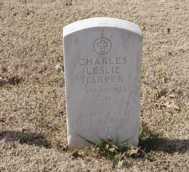 HARPER  (VETERAN WWII), CHARLES LESLIE - Pulaski County, Arkansas | CHARLES LESLIE HARPER  (VETERAN WWII) - Arkansas Gravestone Photos
