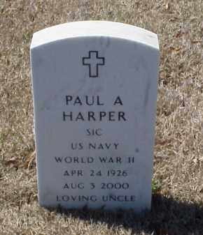 HARPER (VETERAN WWII), PAUL A - Pulaski County, Arkansas | PAUL A HARPER (VETERAN WWII) - Arkansas Gravestone Photos