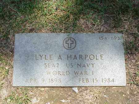 HARPOLE (VETERAN WWI), LYLE A - Pulaski County, Arkansas | LYLE A HARPOLE (VETERAN WWI) - Arkansas Gravestone Photos