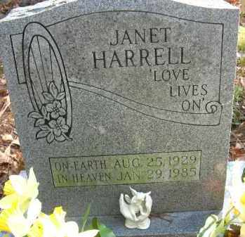 HARRELL, JANET - Pulaski County, Arkansas | JANET HARRELL - Arkansas Gravestone Photos