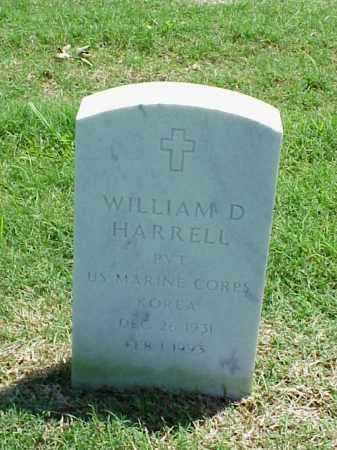 HARRELL (VETERAN KOR), WILLIAM D - Pulaski County, Arkansas | WILLIAM D HARRELL (VETERAN KOR) - Arkansas Gravestone Photos
