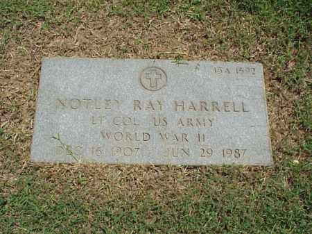 HARRELL (VETERAN WWII), NOTLEY RAY - Pulaski County, Arkansas | NOTLEY RAY HARRELL (VETERAN WWII) - Arkansas Gravestone Photos