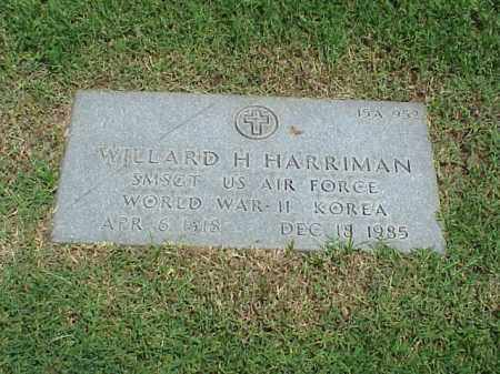 HARRIMAN (VETERAN 2 WARS), WILLARD H - Pulaski County, Arkansas | WILLARD H HARRIMAN (VETERAN 2 WARS) - Arkansas Gravestone Photos