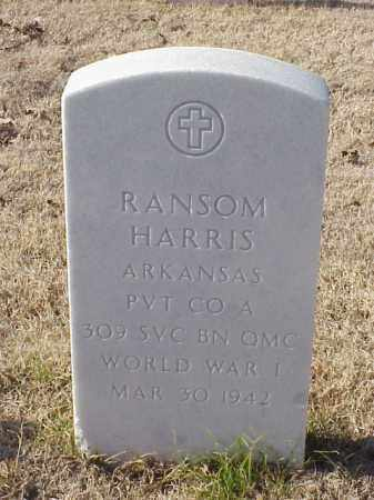 HARRIS  (VETERAN WWI), RANSOM - Pulaski County, Arkansas | RANSOM HARRIS  (VETERAN WWI) - Arkansas Gravestone Photos
