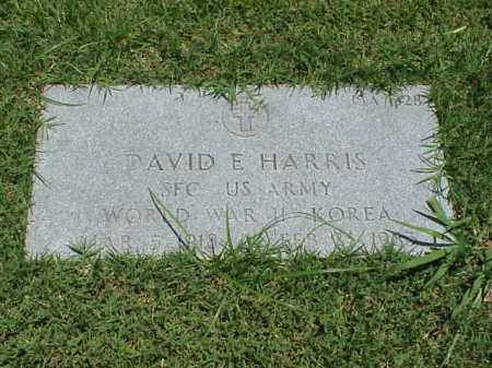 HARRIS (VETERAN 2 WARS), DAVID E - Pulaski County, Arkansas | DAVID E HARRIS (VETERAN 2 WARS) - Arkansas Gravestone Photos