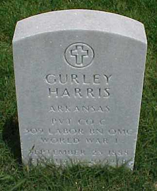 HARRIS (VETERAN WWI), GURLEY - Pulaski County, Arkansas | GURLEY HARRIS (VETERAN WWI) - Arkansas Gravestone Photos