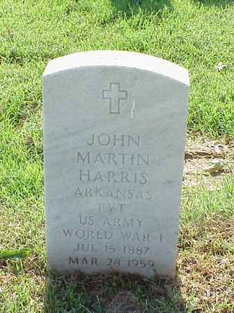 HARRIS (VETERAN WWI), JOHN MARTIN - Pulaski County, Arkansas | JOHN MARTIN HARRIS (VETERAN WWI) - Arkansas Gravestone Photos