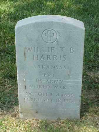 HARRIS (VETERAN WWI), WILLIE T B - Pulaski County, Arkansas | WILLIE T B HARRIS (VETERAN WWI) - Arkansas Gravestone Photos