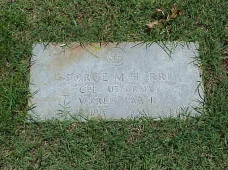 HARRIS (VETERAN WWII), GEORGE M - Pulaski County, Arkansas | GEORGE M HARRIS (VETERAN WWII) - Arkansas Gravestone Photos