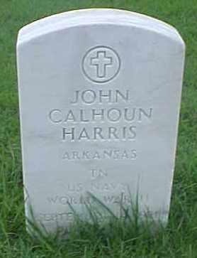 HARRIS (VETERAN WWII), JOHN CALHOUN - Pulaski County, Arkansas | JOHN CALHOUN HARRIS (VETERAN WWII) - Arkansas Gravestone Photos