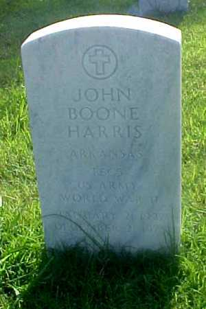 HARRIS (VETERAN WWII), JOHN BOONE - Pulaski County, Arkansas | JOHN BOONE HARRIS (VETERAN WWII) - Arkansas Gravestone Photos