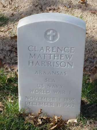 HARRISON  (VETERAN WWI), CLARENCE MATTHEW - Pulaski County, Arkansas | CLARENCE MATTHEW HARRISON  (VETERAN WWI) - Arkansas Gravestone Photos