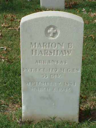 HARSHAW  (VETERAN WWI), MARION B - Pulaski County, Arkansas | MARION B HARSHAW  (VETERAN WWI) - Arkansas Gravestone Photos