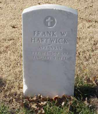 HARTWICK  (VETERAN WWI), FRANK W - Pulaski County, Arkansas | FRANK W HARTWICK  (VETERAN WWI) - Arkansas Gravestone Photos