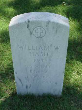 HASH (VETERAN KOR), WILLIAM W - Pulaski County, Arkansas | WILLIAM W HASH (VETERAN KOR) - Arkansas Gravestone Photos