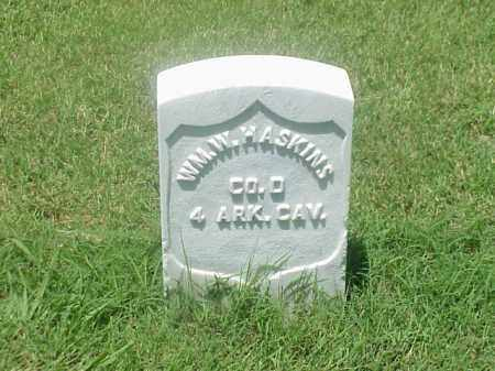 HASKINS (VETERAN UNION), WILLIAM W - Pulaski County, Arkansas | WILLIAM W HASKINS (VETERAN UNION) - Arkansas Gravestone Photos