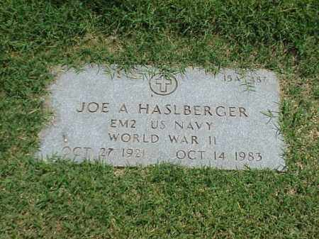 HASLBERGER (VETERAN WWII), JOE A - Pulaski County, Arkansas | JOE A HASLBERGER (VETERAN WWII) - Arkansas Gravestone Photos