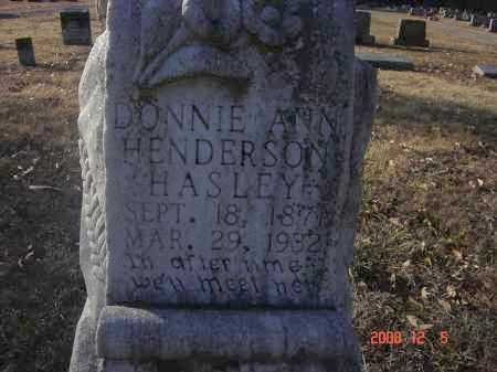 HENDERSON HASLEY, DONNIE ANN - Pulaski County, Arkansas | DONNIE ANN HENDERSON HASLEY - Arkansas Gravestone Photos