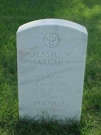 HATCHER (VETERAN WWI), JESSIE W - Pulaski County, Arkansas | JESSIE W HATCHER (VETERAN WWI) - Arkansas Gravestone Photos
