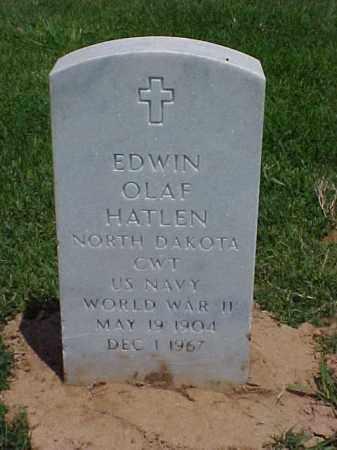HATLEN (VETERAN WWII), EDWIN OLAF - Pulaski County, Arkansas | EDWIN OLAF HATLEN (VETERAN WWII) - Arkansas Gravestone Photos