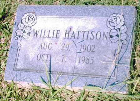 HATTISON, WILLIE - Pulaski County, Arkansas | WILLIE HATTISON - Arkansas Gravestone Photos