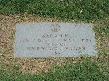HAUGEN, SARAH H - Pulaski County, Arkansas | SARAH H HAUGEN - Arkansas Gravestone Photos