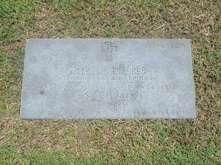 HAUSEN (VETERAN 2 WARS), PETER J - Pulaski County, Arkansas | PETER J HAUSEN (VETERAN 2 WARS) - Arkansas Gravestone Photos