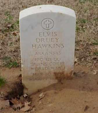 HAWKINS  (VETERAN WWI), ELVIS DRUEY - Pulaski County, Arkansas | ELVIS DRUEY HAWKINS  (VETERAN WWI) - Arkansas Gravestone Photos