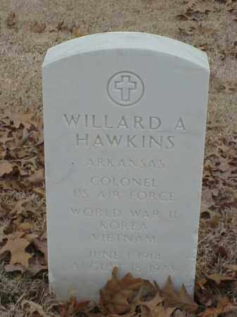 HAWKINS (VETERAN 3 WARS), WILLARD A - Pulaski County, Arkansas | WILLARD A HAWKINS (VETERAN 3 WARS) - Arkansas Gravestone Photos