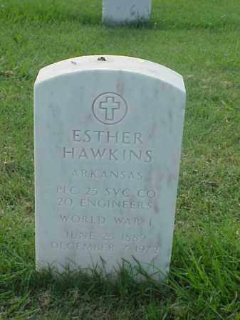 HAWKINS (VETERAN WWI), ESTHER - Pulaski County, Arkansas | ESTHER HAWKINS (VETERAN WWI) - Arkansas Gravestone Photos