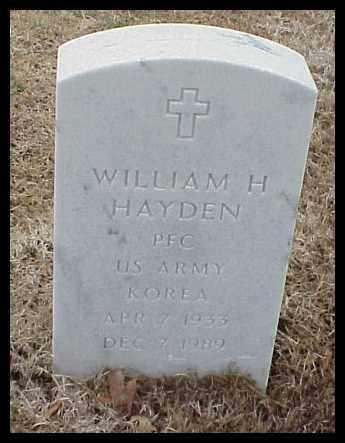 HAYDEN (VETERAN KOR), WILLIAM H - Pulaski County, Arkansas | WILLIAM H HAYDEN (VETERAN KOR) - Arkansas Gravestone Photos