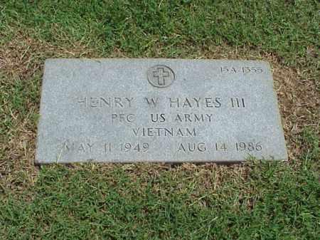 HAYES III (VETERAN VIET), HENRY W - Pulaski County, Arkansas | HENRY W HAYES III (VETERAN VIET) - Arkansas Gravestone Photos