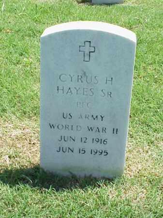 HAYES, SR (VETERAN WWII), CYRUS H - Pulaski County, Arkansas | CYRUS H HAYES, SR (VETERAN WWII) - Arkansas Gravestone Photos