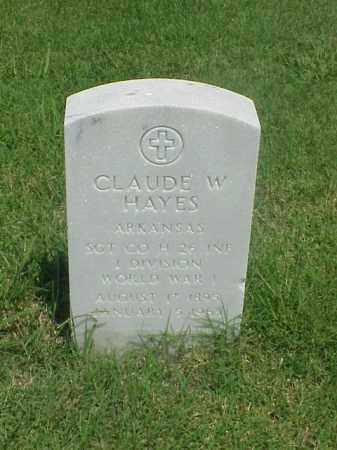 HAYES (VETERAN WWI), CLAUDE W - Pulaski County, Arkansas | CLAUDE W HAYES (VETERAN WWI) - Arkansas Gravestone Photos