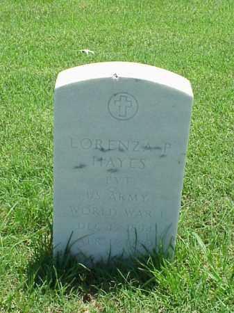HAYES (VETERAN WWI), LORENZA P - Pulaski County, Arkansas | LORENZA P HAYES (VETERAN WWI) - Arkansas Gravestone Photos
