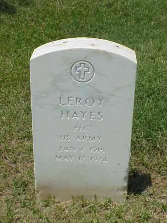 HAYES (VETERAN WWII), LEROY - Pulaski County, Arkansas | LEROY HAYES (VETERAN WWII) - Arkansas Gravestone Photos
