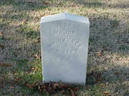 HAYNES (VETERAN CSA), WILLIAM - Pulaski County, Arkansas | WILLIAM HAYNES (VETERAN CSA) - Arkansas Gravestone Photos