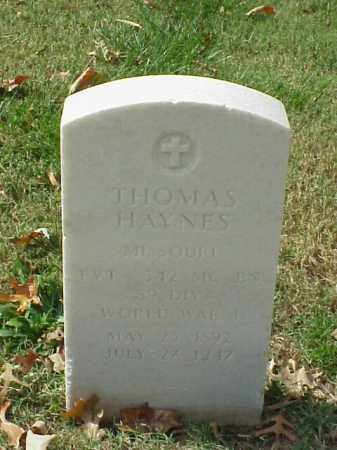 HAYNES  (VETERAN WWI), THOMAS - Pulaski County, Arkansas | THOMAS HAYNES  (VETERAN WWI) - Arkansas Gravestone Photos