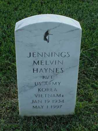 HAYNES (VETERAN 2 WARS), JENNINGS MELVIN - Pulaski County, Arkansas | JENNINGS MELVIN HAYNES (VETERAN 2 WARS) - Arkansas Gravestone Photos