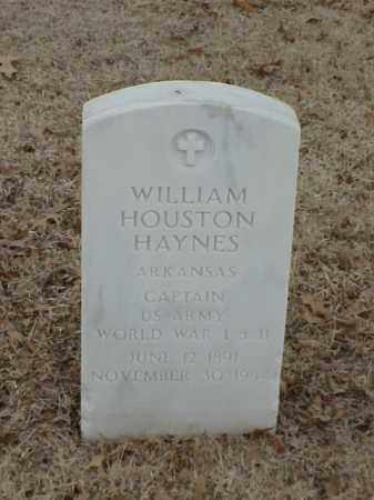 HAYNES (VETERAN 2 WARS), WILLIAM HOUSTON - Pulaski County, Arkansas | WILLIAM HOUSTON HAYNES (VETERAN 2 WARS) - Arkansas Gravestone Photos