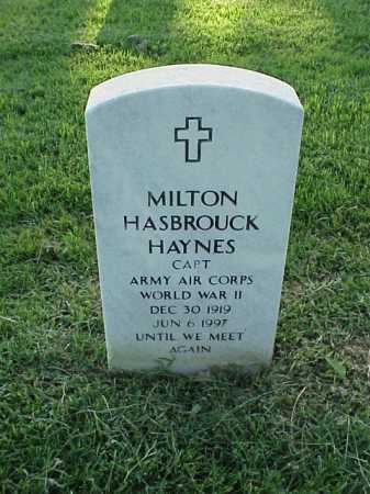 HAYNES (VETERAN WWII), MILTON HASBROUCK - Pulaski County, Arkansas | MILTON HASBROUCK HAYNES (VETERAN WWII) - Arkansas Gravestone Photos