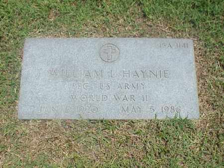 HAYNIE (VETERAN WWII), WILLIAM L - Pulaski County, Arkansas | WILLIAM L HAYNIE (VETERAN WWII) - Arkansas Gravestone Photos