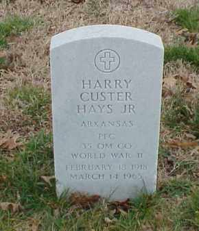 HAYS, JR  (VETERAN WWII), HARRY CUSTER - Pulaski County, Arkansas | HARRY CUSTER HAYS, JR  (VETERAN WWII) - Arkansas Gravestone Photos