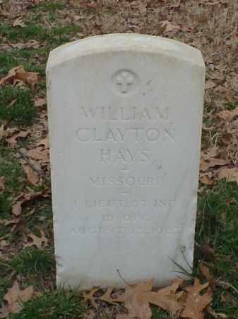 HAYS (VETERAN SAW), WILLIAM CLAYTON - Pulaski County, Arkansas | WILLIAM CLAYTON HAYS (VETERAN SAW) - Arkansas Gravestone Photos
