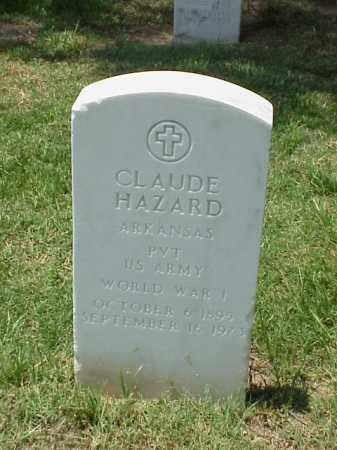 HAZARD (VETERAN WWI), CLAUDE - Pulaski County, Arkansas | CLAUDE HAZARD (VETERAN WWI) - Arkansas Gravestone Photos